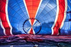 Πολυ χρωματισμένο μπαλόνι ζεστού αέρα Στοκ Εικόνες