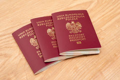 Πολωνικά διαβατήρια Στοκ φωτογραφία με δικαίωμα ελεύθερης χρήσης