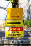 Πολωνικά σημάδια στον πόλο Στοκ φωτογραφία με δικαίωμα ελεύθερης χρήσης