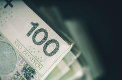 Πολωνικά χρήματα μετρητών Zloty στοκ φωτογραφίες με δικαίωμα ελεύθερης χρήσης