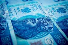Πολωνικά χρήματα, πενήντα πολωνικός zloty Στοκ Φωτογραφίες