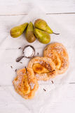 Πολωνικές τηγανίτες Racuchy †«με τα φρούτα Στοκ Φωτογραφία