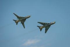Πολωνική πολεμική αεροπορία SU 22 καταλληλότερα αεροσκάφη Στοκ Εικόνα