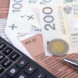 Πολωνικός μεμονωμένος φόρος εισοδήματος Στοκ φωτογραφία με δικαίωμα ελεύθερης χρήσης