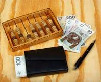 Πολωνικός μισθός χρημάτων στοκ εικόνα με δικαίωμα ελεύθερης χρήσης