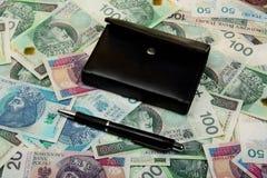 Πολωνικός μισθός χρημάτων στοκ εικόνα