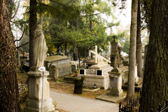 Πολωνικό νεκροταφείο Ιησούς με το σταυρό Στοκ φωτογραφία με δικαίωμα ελεύθερης χρήσης