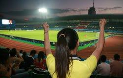 ποδόσφαιρο ανεμιστήρων Στοκ εικόνα με δικαίωμα ελεύθερης χρήσης