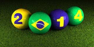 Ποδόσφαιρο Βραζιλία 2014 Παγκόσμιου Κυπέλλου Στοκ φωτογραφία με δικαίωμα ελεύθερης χρήσης