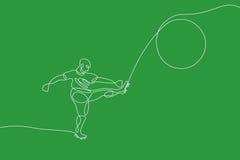 ποδόσφαιρο Γραμμική γραμμή γραφική Στοκ Εικόνες
