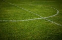 ποδόσφαιρο γραμμών πεδίων Στοκ Φωτογραφία