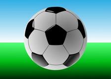 ποδόσφαιρο γυαλιού καψίματος σφαιρών aqua ελεύθερη απεικόνιση δικαιώματος