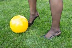 Ποδόσφαιρο γυναικών στοκ εικόνα με δικαίωμα ελεύθερης χρήσης