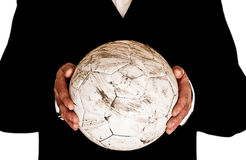 Ποδόσφαιρο εκμετάλλευσης διευθυντών Στοκ φωτογραφίες με δικαίωμα ελεύθερης χρήσης