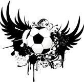 ποδόσφαιρο εμβλημάτων grunge Στοκ εικόνα με δικαίωμα ελεύθερης χρήσης