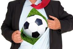 Ποδόσφαιρο μέσα στοκ εικόνες με δικαίωμα ελεύθερης χρήσης