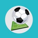 Ποδόσφαιρο με το επίπεδο σχέδιο αθλητικών τομέων Στοκ φωτογραφίες με δικαίωμα ελεύθερης χρήσης