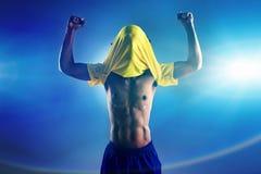 Ποδόσφαιρο νίκης Στοκ εικόνα με δικαίωμα ελεύθερης χρήσης