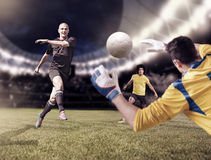 ποδόσφαιρο παιχνιδιών διανυσματική απεικόνιση