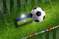 ποδόσφαιρο παιχνιδιών Στοκ φωτογραφία με δικαίωμα ελεύθερης χρήσης