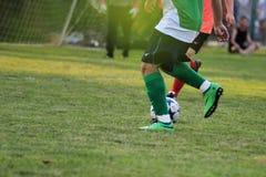 ποδόσφαιρο παιχνιδιών Στοκ φωτογραφίες με δικαίωμα ελεύθερης χρήσης