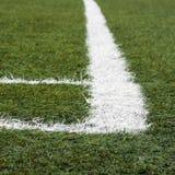 ποδόσφαιρο πεδίων γωνιών Στοκ φωτογραφία με δικαίωμα ελεύθερης χρήσης
