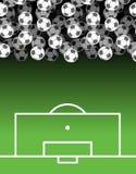 ποδόσφαιρο πεδίων σφαιρών μέρος σφαιρών Υπόβαθρο ποδοσφαίρου αθλητισμός Στοκ Εικόνες