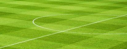 ποδόσφαιρο πεδίων σχεδίου εσείς Στοκ Φωτογραφία