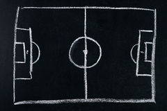 ποδόσφαιρο πεδίων σχεδίου εσείς Στοκ Εικόνες