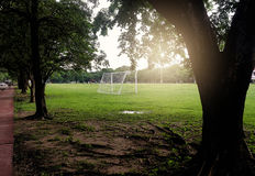 ποδόσφαιρο πεδίων σχεδίου εσείς Στοκ Φωτογραφίες