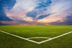 ποδόσφαιρο πεδίων Στοκ Φωτογραφία