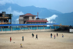 Ποδόσφαιρο σε Darjeeling Στοκ φωτογραφία με δικαίωμα ελεύθερης χρήσης