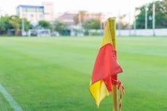 ποδόσφαιρο σημαιών πεδίων & Στοκ φωτογραφία με δικαίωμα ελεύθερης χρήσης