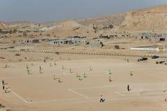 Ποδόσφαιρο στην έρημο στοκ εικόνες με δικαίωμα ελεύθερης χρήσης
