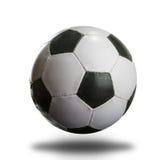 Ποδόσφαιρο στο λευκό Στοκ φωτογραφία με δικαίωμα ελεύθερης χρήσης