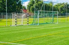ποδόσφαιρο στόχων πεδίων Στοκ Εικόνες