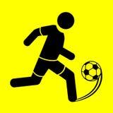 Ποδόσφαιρο συμβόλων Στοκ φωτογραφία με δικαίωμα ελεύθερης χρήσης