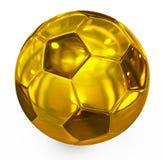 Ποδόσφαιρο χρυσό Στοκ Φωτογραφία