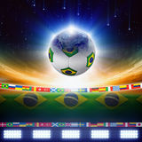 2014 ποδόσφαιρο της Βραζιλίας Στοκ Εικόνα