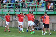 Ποδόσφαιρο της Πράγας Slavia Στοκ φωτογραφίες με δικαίωμα ελεύθερης χρήσης