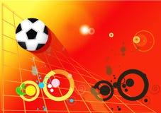 Ποδόσφαιρο υποβάθρου Στοκ εικόνα με δικαίωμα ελεύθερης χρήσης
