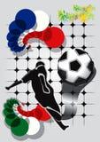 Ποδόσφαιρο υποβάθρου Στοκ Εικόνες