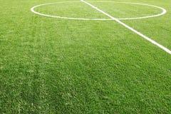 ποδόσφαιρο χλόης πεδίων Στοκ εικόνα με δικαίωμα ελεύθερης χρήσης