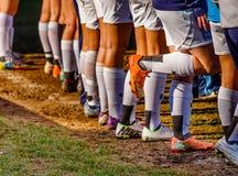 Ποδόσφαιρο Futbol γυναικών Στοκ εικόνα με δικαίωμα ελεύθερης χρήσης
