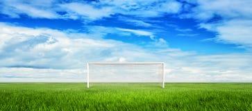 Ποδόσφαιρο, goalpost Στοκ φωτογραφία με δικαίωμα ελεύθερης χρήσης