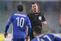 Ποδόσφαιρο: Korona Kielce - Wisla Plock Στοκ Εικόνα