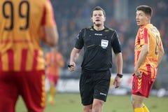 Ποδόσφαιρο: Korona Kielce - Wisla Plock Στοκ εικόνα με δικαίωμα ελεύθερης χρήσης