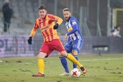 Ποδόσφαιρο: Korona Kielce - Wisla Plock Στοκ εικόνες με δικαίωμα ελεύθερης χρήσης