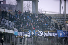 Ποδόσφαιρο: Korona Kielce - Wisla Plock Στοκ Φωτογραφίες