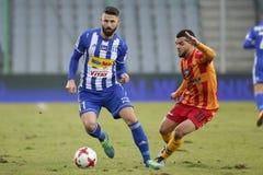 Ποδόσφαιρο: Korona Kielce - Wisla Plock Στοκ Φωτογραφία